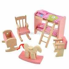 Doll House Bunk Bed Buy Adorable Wooden Miniature Dollhouse Bunk Bed Funiture Set Kids