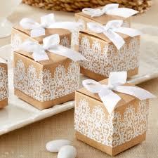 wedding party favor boxes rustic lace kraft favor boxes rustic and lace kraft favor boxes