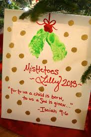 easy diy mistletoes baby feet christmas craft target gift card