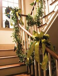 Christmas Banister Garland Ideas 103 Best Christmas Garland Images On Pinterest Christmas