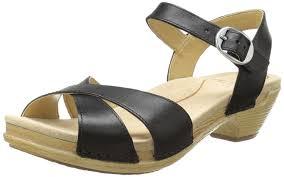 amazon com dansko women u0027s larissa dress sandal black full grain