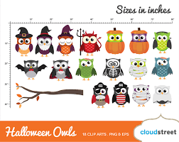 Halloween Owl Clipart by 20 Off Cute Halloween Owls Clipart Halloween Owl Clip Art