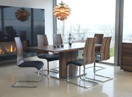 vida living messina walnut dining table with 6 chairs blue ocean