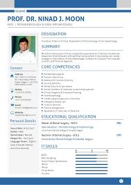 Pre Dental Resume Resume Cv Of Periodontist
