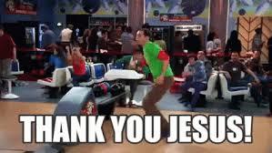 Thank You Jesus Meme - sheldon bowling gif sheldon bowling jumpingforjoy discover