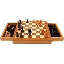 Amazon Chess Set Amazon Com Elegant Inlaid Wood Cabinet With Staunton Wood