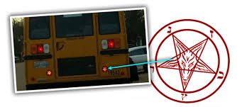 human actually thinks school brake lights are satanic