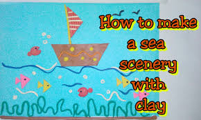clay tutorial how to make a sea scenery with clay for kids