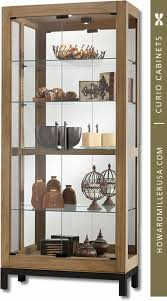 Modern Curio Cabinets 680598 Howard Miller Natural Reclaimed Finish Curio Cabinet