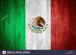 Mexixan Flag Mexico Flag Or Mexican Banner On Wooden Boards Background Stock