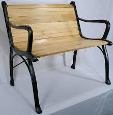 Vintage Cast Iron Patio Furniture - vintage cast iron oak wood floor slat patio garden porch chair