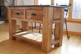 kitchen island of reclaimed lumber finewoodworking