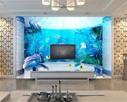 online shop beibehang custom wallpaper 3d stereo underwater world