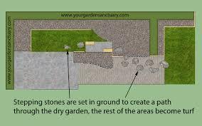 Backyard Stepping Stones by Backyard Japanese Garden For Narrow Yard Part 1 Of 4