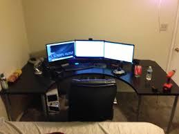 Gaming Desk Pc Best Ikea Desk For Pc Gaming Desks L Shaped Setup The Galant Goto