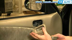 Exterior Car Door Handle Repair How To Install Replace Inside Door Handle Toyota Corolla 98 02