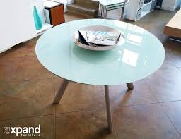 Expanding Table by The Butterfly Expandable Round Glass Dining Table Expand
