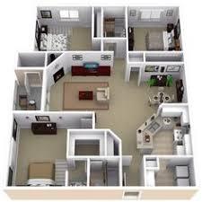 three bedroom flat floor plan 50 three 3 bedroom apartment house plans bedroom apartment