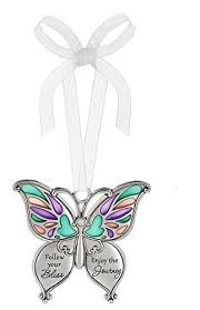 ganz butterfly wishes colored ornament follow your bliss enjoy