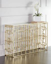 Glass And Metal Sofa Table Akiff Glass Top Golden Console Gold Accent Tables U003e Sofa