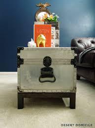 trunk coffee table diy winter pinterest challenge diy trunk coffee table desert domicile