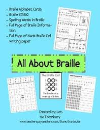 Fun Activities For The Blind Braille Activity Could Make A Fun Word Work Activity Literacy