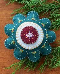 my blue heaven wool applique wool applique stitchery ornament
