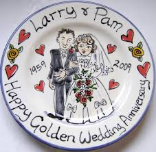 anniversary plates weddings anniversary plates kate glanville painted tiles