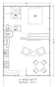 small guest house floor plans 600 sf house plans home kits teton style home