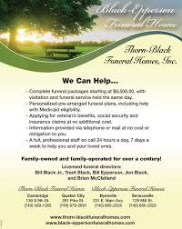 funeral packages the daily jefferson business directory coupons restaurants