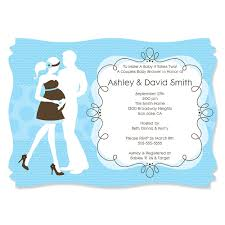 Baby Boy Baby Shower Invites Silhouette Couples Baby Shower It U0027s A Boy Personalized Baby
