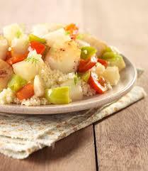 cuisiner les topinambours a la poele noix de jacques sur poêlée de topinambours et poivrons colruyt
