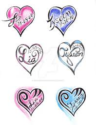 25 trending heart tattoos with names ideas on pinterest heart