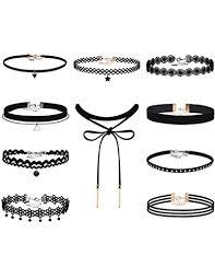 velvet choker necklace pendant images Mudder black velvet choker necklaces set gothic tattoo jpg