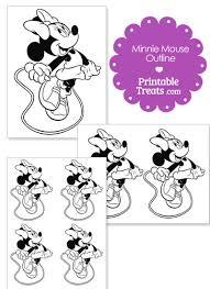 printable minnie mouse jumping template u2014 printable treats