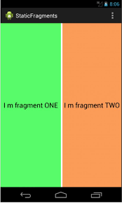 android layoutinflater static fragments declare the fragment as a element inside the
