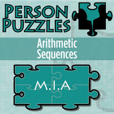 person puzzle arithmetic sequences m i a worksheet by clark