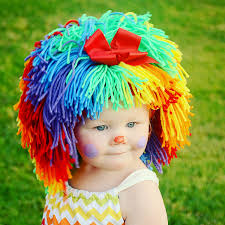 clown costume halloween costumes baby hat baby clown wig