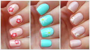 3 easy nail art designs for short nails youtube