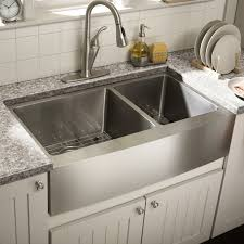 Dining  Kitchen Cool Ways To Install Farmhouse Sinks To Your - Copper kitchen sink reviews
