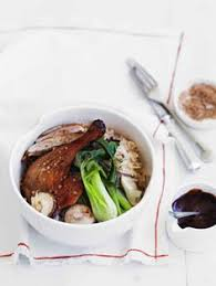 thanksgiving for two shiitake sticky rice stuffed duck breast