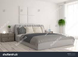 scandinavian interior design bedroom white bedroom scandinavian interior design 3d stock illustration