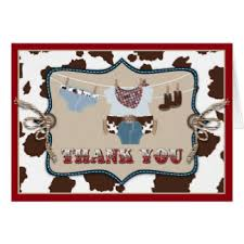 western thank you note cards zazzle
