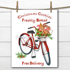 digital red christmas bike christmas cookies christmas