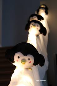 penguins sliding down stairs weeee make a penguin snow slide