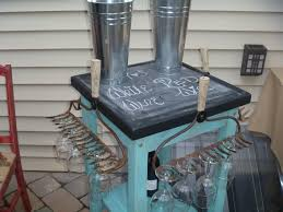 engagement party decor this was a rolling butcher block cart i fun rolling wine cart made with vintage rakes amp an old butcher block table repurposing upcycling rolling wine cart made with vintage rak