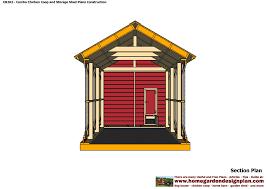 backyard sheds plans cb202 combo plans chicken coop plans construction garden sheds