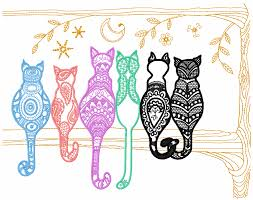 rainbow cats free embroidery design animals free machine