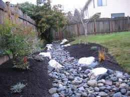 Backyard Drainage Ideas Drainage Trench Becomes A Stream Yard Drainage Planting And Yards