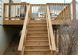 Wooden Stairs Design Outdoor Wooden Handrail For Stairs Home Stair Design Handrails Deck Idolza